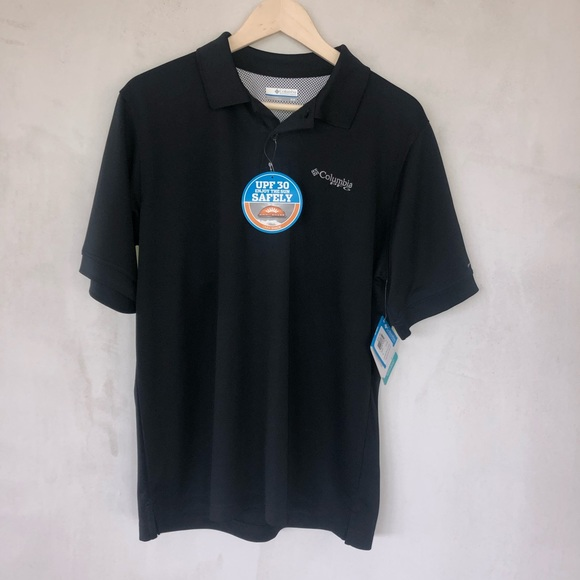 e80ad9da243 Columbia Shirts   Black Omni Shade River Polo Shirt   Poshmark